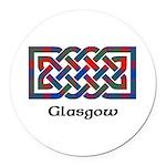 Knot - Glasgow dist. Round Car Magnet