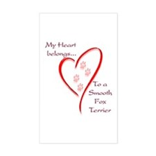 Smooth Fox Heart Belongs Rectangle Decal