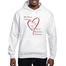 Spinone Heart Belongs Hoodie