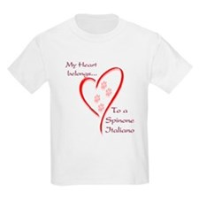 Spinone Heart Belongs Kids T-Shirt