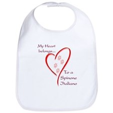 Spinone Heart Belongs Bib