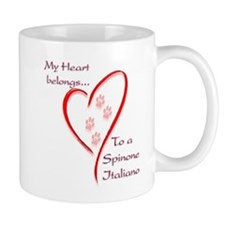 Spinone Heart Belongs Mug