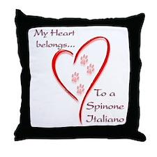 Spinone Heart Belongs Throw Pillow
