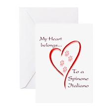 Spinone Heart Belongs Greeting Cards (Pk of 10