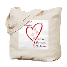 Spinone Heart Belongs Tote Bag
