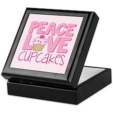 Peace Love Cupcake Keepsake Box