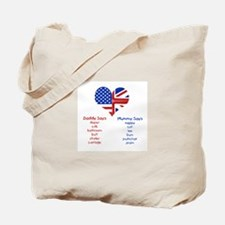 American Daddy, English Mummy Tote Bag