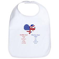 American Daddy, English Mummy Bib
