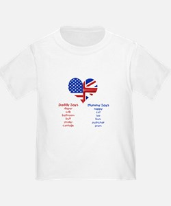 American Daddy, English Mummy T