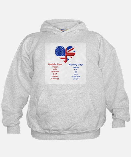 American Daddy, English Mummy Hoodie