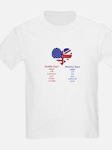 American Daddy, English Mummy Kids T-Shirt