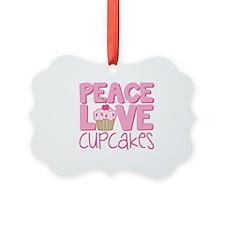 Peace Love Cupcake Ornament