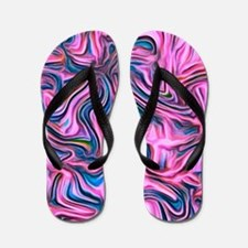 abstract joy pink Flip Flops