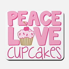 Peace Love Cupcake Mousepad