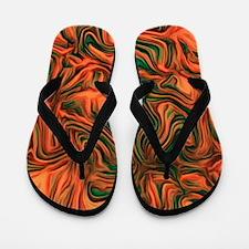 abstract joy red Flip Flops