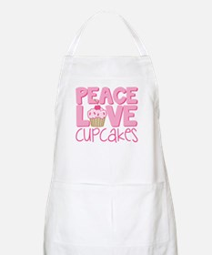 Peace Love Cupcake Apron