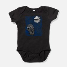 Owl with Mustache Baby Bodysuit