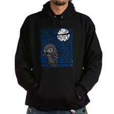 Owl with Mustache Hoodie