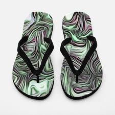 abstract joy,soft green Flip Flops