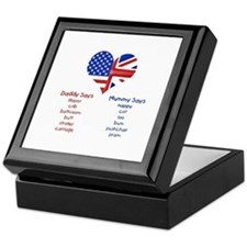 American Daddy, English Mummy Keepsake Box