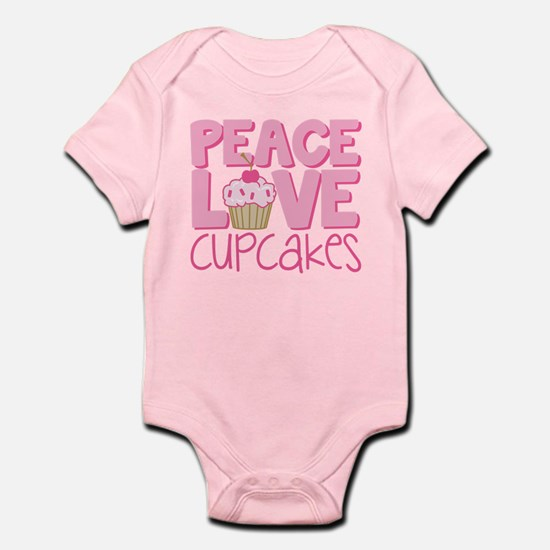 Peace Love Cupcake Infant Bodysuit
