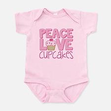 Peace Love Cupcake Onesie