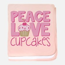Peace Love Cupcake baby blanket