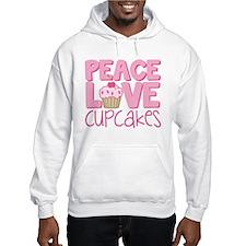Peace Love Cupcake Hoodie