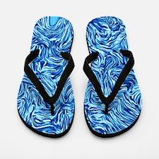 abtsract joy,ice-metallic Flip Flops
