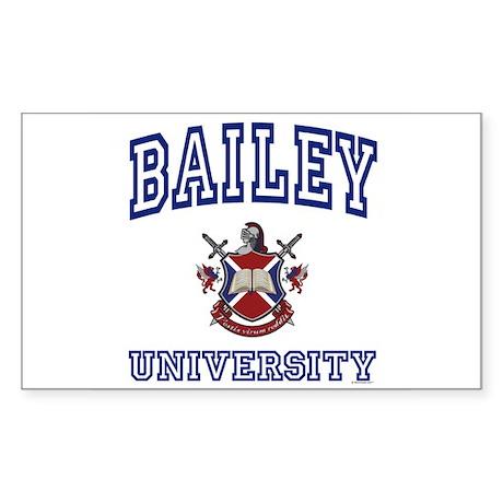 BAILEY University Rectangle Sticker