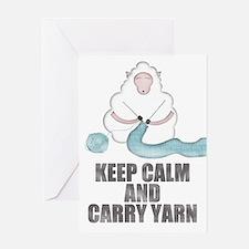Cute Keep calm and crochet Greeting Card
