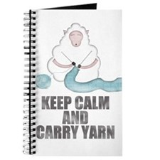 Unique Keep calm and carry yarn Journal