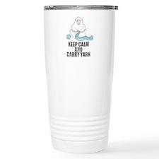 Funny Keep calm and carry yarn Travel Mug