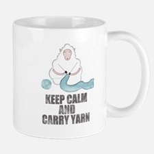 Cute Keep calm and knit Mug