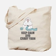 Funny Stay calm carry yarn Tote Bag