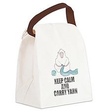 Unique Yarn sheep Canvas Lunch Bag
