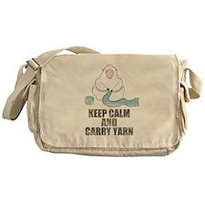 Funny Keep calm and carry yarn Messenger Bag