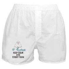 Cute Keep calm and crochet Boxer Shorts