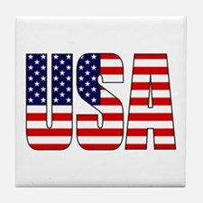 USA Flag Tile Coaster
