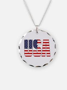 USA Flag Necklace