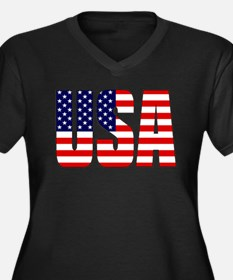 USA Flag Plus Size T-Shirt