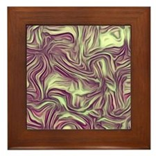 abstract joy ,vintage colors Framed Tile