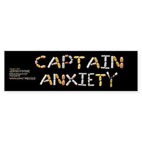 Captain Anxiety Bumpersticker