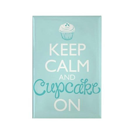 Keep Calm and Cupcake On Magnets