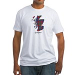 Map - Glasgow dist. Fitted T-Shirt
