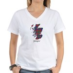 Map - Glasgow dist. Women's V-Neck T-Shirt