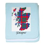 Map - Glasgow dist. baby blanket