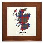 Map - Glasgow dist. Framed Tile