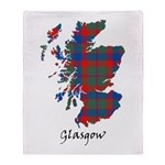 Map - Glasgow dist. Throw Blanket