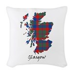 Map - Glasgow dist. Woven Throw Pillow